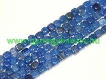 Kék Kocka Achát Ásványgyöngy 5x6mm