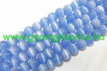 Kék Macskaszem (Üveg) Ásványgyöngy Gyöngyfüzér 8mm