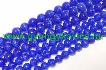 Kék Macskaszem (Üveg) (sötét) Ásványgyöngy Gyöngyfüzér 8mm