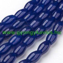 Kék Ovális Jade Ásványgyöngy 11x8mm