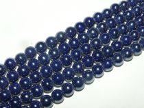Kék Gyöngyház Porcelán Gyöngy 8mm