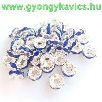 Ezüst Színű Nyaklánc Karkötő Ékszer Dísz Kék Strassz Kövekkel 6mm
