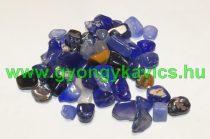Kék Színes Achát Ásványtörmelék 8-19x2-6mm 10g