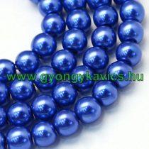 Kék Színű Szintetikus Kagyló Gyöngy Gyöngyfüzér 8mm