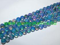 Kék Szivárványos Üveggyöngy Gyöngyfüzér 8mm
