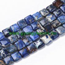 Kék Tengeri Jáspis Regalit Kocka Ásványgyöngy 10x10x4mm