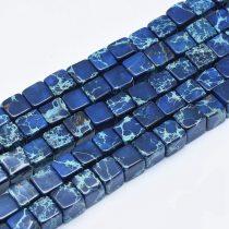 Kék Tengeri Jáspis Regalit Kocka Ásványgyöngy 6x6mm
