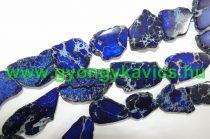Kék Tengeri Jáspis Regalit Szirom Ásványgyöngy 20-62x15-50x4-7mm