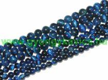 Kék Tigrisszem Ásványgyöngy Gyöngyfüzér 12mm