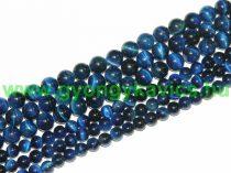 Kék Tigrisszem Ásványgyöngy Gyöngyfüzér 6mm