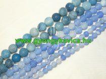 Kék Tűz Achát Ásványgyöngy 10mm