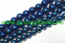Kék Színű Üveggyöngy Gyöngyfüzér 10mm