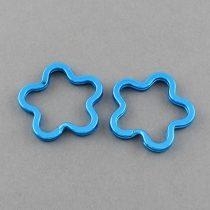 Kék Színű Virág Kulcstartó Karika 34mm