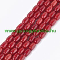 Korall Ásványgyöngy Gyöngyfüzér 8-9x5-5,5mm