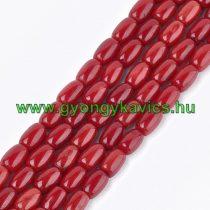 Korall Ásványgyöngy  8-9x5-5,5mm