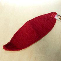 Kötött Piros Fülvédő Fejpánt