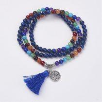 Lápisz Lazuli Lazurit 7 Csakra (2) Ásvány Nyaklánc Mala 6mm 74cm