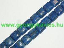 Lazurit Lápisz Lazuli Kocka Ásványgyöngy 13,5-14x13,5-14x5-6mm