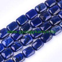 Lazurit Lápisz Lazuli Téglalap Ásványgyöngy 18x13x6mm