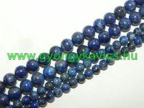 Lazurit Lápisz Lazuli (világos) Ásványgyöngy Gyöngyfüzér 6mm