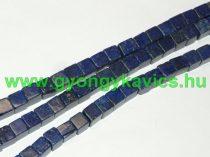 Lazurit Lápisz Lazuli Kocka Ásványgyöngy 4x4mm