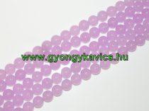 Levendula Lila Jade Ásványgyöngy Gyöngyfüzér 10mm
