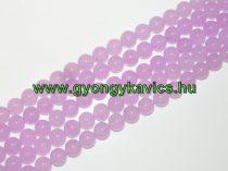 Levendula Lila Jade (világos) Ásványgyöngy Gyöngyfüzér 6mm