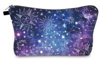 Lila Csillagkép Kistáska Neszeszer Tároló Kozmetikai Táska 22x14cm
