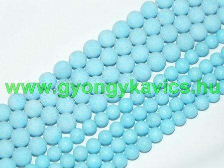 Matt Kék Jade Ásványgyöngy Gyöngyfüzér 6mm