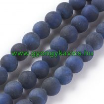 Matt Kék Tigrisszem Ásványgyöngy 10mm