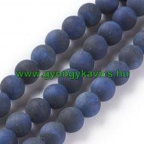 Matt Kék Tigrisszem Ásványgyöngy 12mm