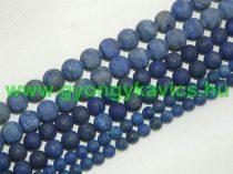 Matt Lazurit Lápisz Lazuli Ásványgyöngy Gyöngyfüzér 6mm