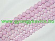 Matt Rózsaszín Jade Ásványgyöngy Gyöngyfüzér 10mm