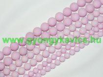 Matt Rózsaszín Jade Ásványgyöngy  10mm