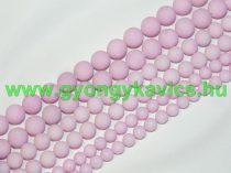 Matt Rózsaszín Jade Ásványgyöngy Gyöngyfüzér 6mm