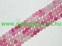 Matt Rózsaszín Pink Achát Ásványgyöngy Gyöngyfüzér 6mm