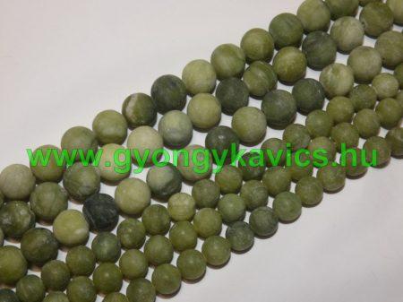 Matt Taiwani Tajvani Zöld Jade Ásványgyöngy Gyöngyfüzér 10mm