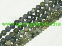 Matt Taiwani Tajvani Zöld Jade (sötét) Ásványgyöngy 10mm