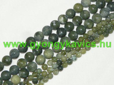 Matt Taiwani Tajvani Zöld Jade Ásványgyöngy Gyöngyfüzér 6mm