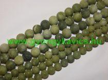 Matt Taiwani Tajvani Zöld Jade Ásványgyöngy 8mm