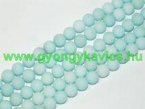 Matt Türkiz Türkizkék Jade Ásványgyöngy 6mm
