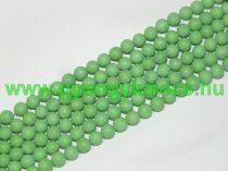 Matt Zöld Jade Ásványgyöngy 6mm