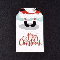 Mikulás Karácsonyi Árazócimke Ajándékcimke Üdvözlőkártya 50x30mm