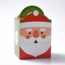 Mikulás Karácsonyi Díszdoboz Ékszerdoboz Ajándékdoboz 10,2x8,3x8,2cm
