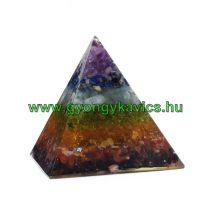 7 Csakra Ásvány Energetizáló Tértisztító Piramis 6,5x6cm