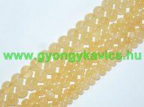 Narancs Kalcit Ásványgyöngy Gyöngyfüzér 6mm