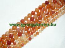 Narancssárga Achát Ásványgyöngy Gyöngyfüzér 12mm