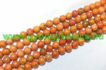 Narancssárga Howlit Ásványgyöngy 8mm