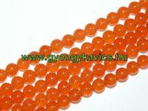Narancssárga Jade Ásványgyöngy Gyöngyfüzér 6mm