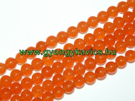 Narancssárga Jade Ásványgyöngy Gyöngyfüzér 8mm